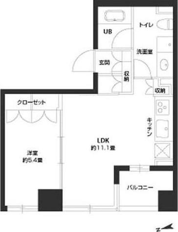 パークキューブ銀座イースト / 1LDK(40.17㎡) 部屋画像1