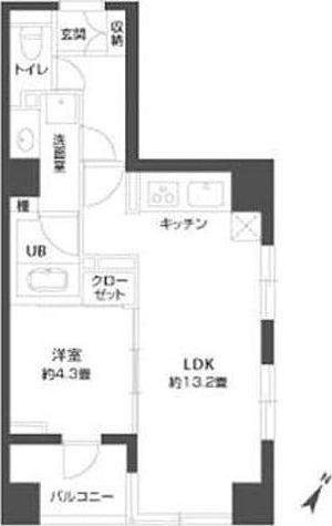 パークキューブ銀座イースト / 1LDK(42.91㎡) 部屋画像1