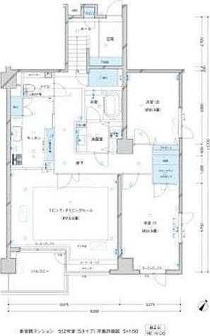 参宮橋マンション / 2LDK(106.18㎡) 部屋画像1
