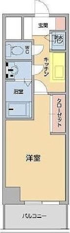 メゾン・ド・ヴィレ高輪 / 1K(26.10㎡) 部屋画像1
