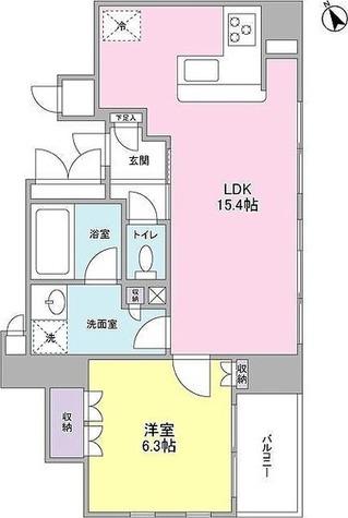 ニューシティアパートメンツ銀座イーストⅠ / 1LDK(47.13㎡) 部屋画像1