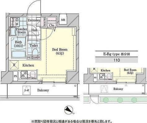 ディームス品川戸越 / E-Bgタイプ(21.61㎡) 部屋画像1