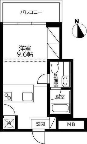カスタリア目黒長者丸(旧イプセ目黒) / ワンルーム(24.74㎡) 部屋画像1