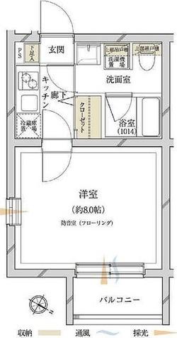 サウンドプルーフ田園調布 / 1K(23.50㎡) 部屋画像1