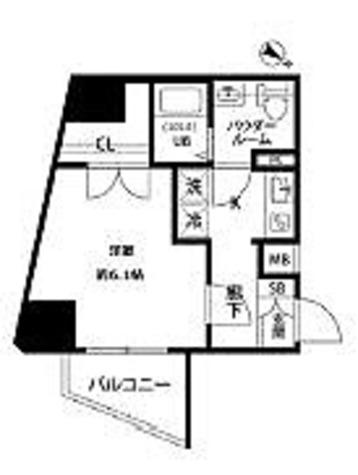 プレール・ドゥーク西巣鴨 / 1K(26.49㎡) 部屋画像1