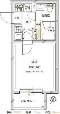 サウンドプルーフ田園調布 / 1K(23.46㎡) 部屋画像1