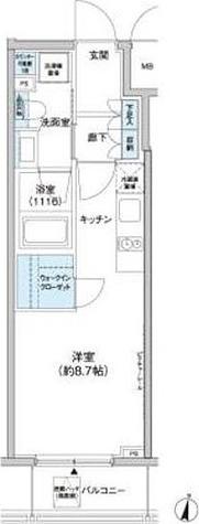 新宿区北新宿1丁目2-6貸マンション 201501 / Bタイプ(25.01㎡) 部屋画像1