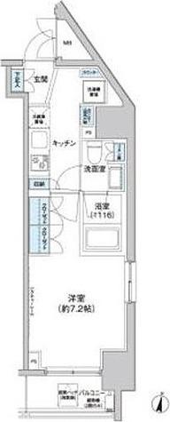 新宿区北新宿1丁目2-6貸マンション 201501 / Eタイプ(26.29㎡) 部屋画像1