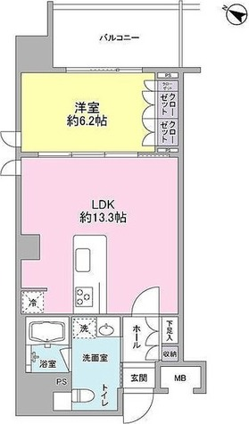 BPRレジデンス三田伊皿子坂 / 1LDK(45.20㎡) 部屋画像1