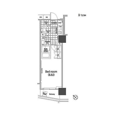 パークハビオ赤坂タワー / 1K(29.29㎡) 部屋画像1