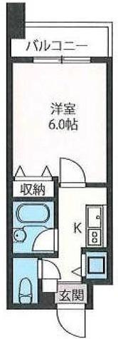 エスティメゾン板橋本町 / 1K(19.60㎡) 部屋画像1