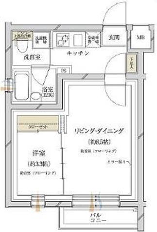 サウンドプルーフプロ蒲田 / 1LDK(31.85㎡) 部屋画像1