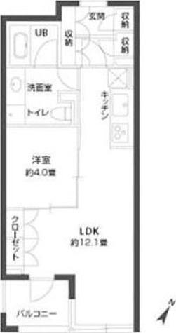 パークキューブ銀座イースト / 1LDK(40.08㎡) 部屋画像1