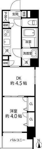 デュオステージ白金高輪 / 1DK(30.88㎡) 部屋画像1