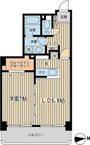 芝公園アパートメント / 1LDK(43.49㎡) 部屋画像1