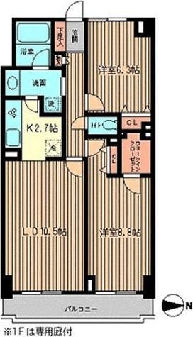 ファーストビレッジ白金台 / 2LDK (66.60㎡) 部屋画像1