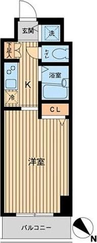 HF東神田レジデンス(旧エルミタージュ東神田) / 1K(22.62㎡) 部屋画像1