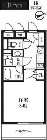 仮称)門前仲町レジデンス / Dタイプ(25.46㎡) 部屋画像1