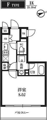 仮称)門前仲町レジデンス / Fタイプ(25.39㎡) 部屋画像1