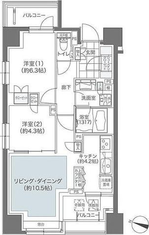 メゾンカルム本郷 / 2LDK(59.25㎡) 部屋画像1