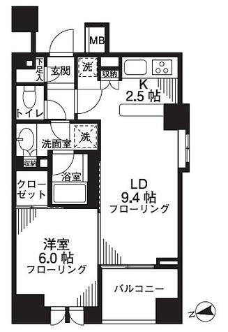 シティハウス東京新橋 / 1LDK(45.45㎡) 部屋画像1