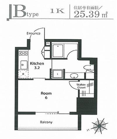 ステイシス町屋 / Bタイプ(25.39㎡) 部屋画像1