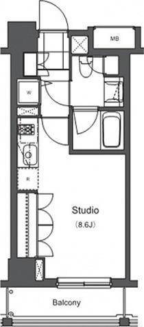 プライムアーバン長原上池台(上池台1) / ワンルーム26.52(㎡) 部屋画像1