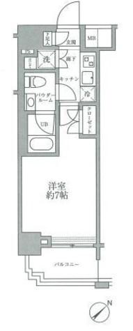 スパシエグランス横浜反町 / 1K(22.58㎡) 部屋画像1