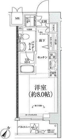スパシエガーデン川崎梶ヶ谷 / 1K(20.32㎡) 部屋画像1