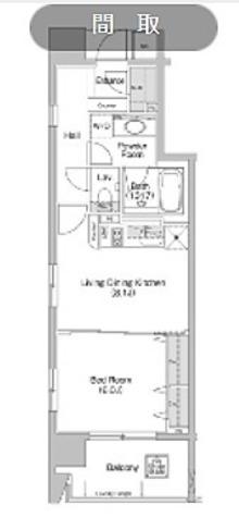 神保町 3分マンション / 1LDK(40.37㎡) 部屋画像1