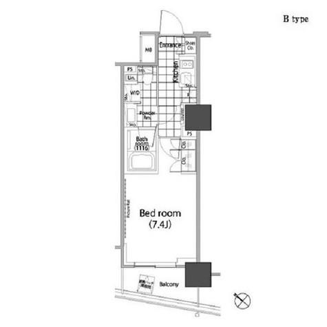 パークハビオ赤坂タワー / 1408 部屋画像1