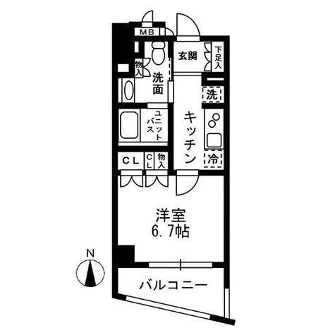 レジディア中落合 / 1階 部屋画像1