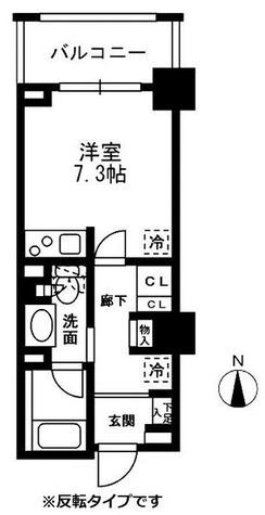 レジディア中落合 / ワンルーム(24.09㎡) 部屋画像1