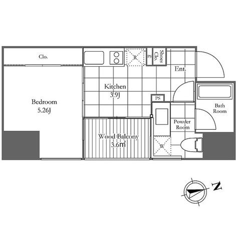 OWCA麻布十番 / 1K(29.4㎡) 部屋画像1