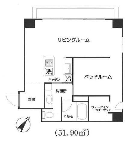 東麻布アパートメント / 902 部屋画像1