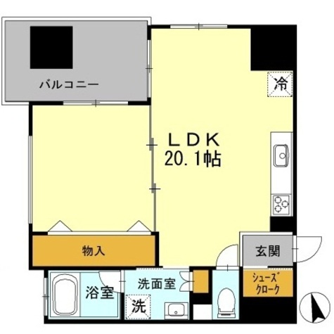 カスタリア伏見 / 1LDK(48.09㎡) 部屋画像1