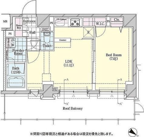 ディームス品川戸越 / 1LDK(43.17㎡) 部屋画像1