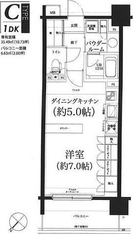 スパシエルクス西川口 / 1DK(35.49㎡) 部屋画像1