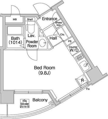 コンフォリア愛宕 / 1R(24.93㎡) 部屋画像1