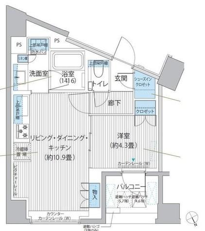 ヘキサート六本木 / 701 部屋画像1