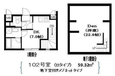 Residence Nakameguro(レジダンス ナカメグロ) / 102 部屋画像1