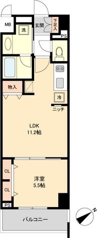 ロイジェント新栄Ⅳ / Aタイプ(41.02㎡) 部屋画像1