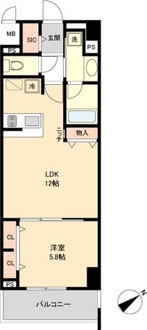 ロイジェント新栄Ⅳ / Dタイプ(43.16㎡) 部屋画像1