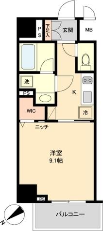 ロイジェント新栄Ⅳ / Gタイプ(33.22㎡) 部屋画像1