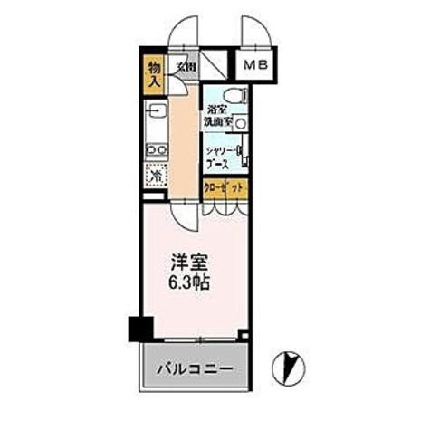 カスタリア武蔵小杉 / 1K(21.17㎡) 部屋画像1