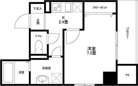 ドルチェヴィータ自由が丘 / 1K(27.19㎡) 部屋画像1
