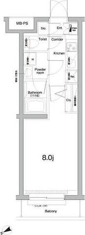 プレミアムキューブジー三軒茶屋 / 1K(25.52㎡) 部屋画像1
