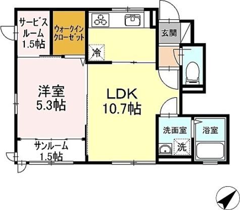サンシャンテ上野毛 / B-1LDK(43.29㎡) 部屋画像1
