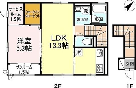 サンシャンテ上野毛 / A-1LDK(53.70㎡) 部屋画像1