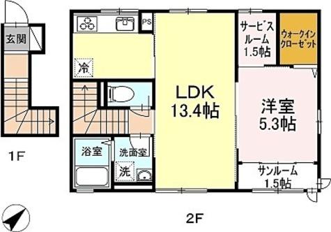 サンシャンテ上野毛 / 1階 部屋画像1